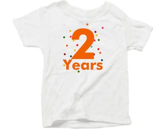 Second Birthday T-shirt - Organic - 2 years - Confetti tshirt - toddler bday