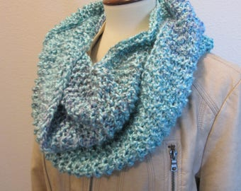 Exquisitly Soft Light Blue Infinity Scarf