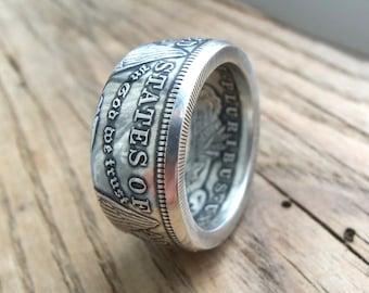 Morgan Dollar Coin Ring - Size 13 - Silver Dollar Coin Ring - Silver Coin Ring - 1921 year - Dollar - Morgan Silver Dollar Coin Ring -