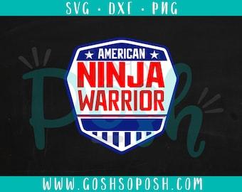 American Ninja Warrior - SVG - DXF - PNG -  Cut File -  Silhouette / Cricut Files