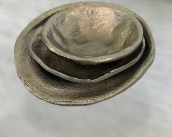 Hand-Made Lava Saucer (Set of 3)
