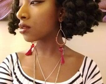 Teardrop tassle earrings