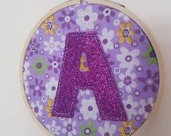 Embroidery hoop name art