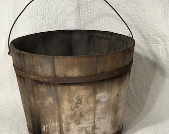 Vintage Wooden Bucket