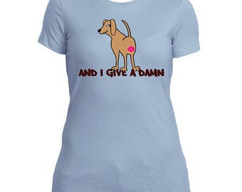 Women's anGRRy dog T-shirt - And I Give A Damn