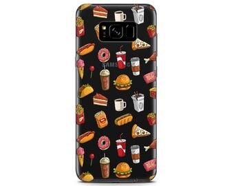 Hamburger phone case Galaxy s8 plus Pixel 2 case cute fast food ornament Pizza case LG G6 case funny cute s8 phone case Pixel xl sleeve Food