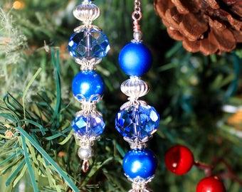 Blue dangling ornament