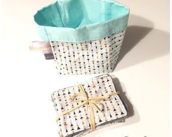 Storage pocket and its wipes - washable baby wipes or cleansing wipes