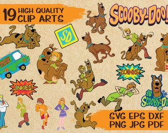19 Scooby Doo svg cut file Clip Arts | vector | printable | vinyl | iron on