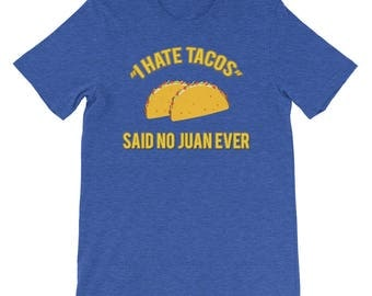 Funny Mexican Taco, Taco Tuesday Mens Short-Sleeve Unisex T-Shirt