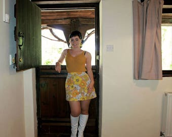 Handmade 1960s A line skirt in original 60s fabric!