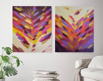 large art, abstract painting, large art, colorful art, abstract art, violet painting, multicolor painting, textured painting, wall decor
