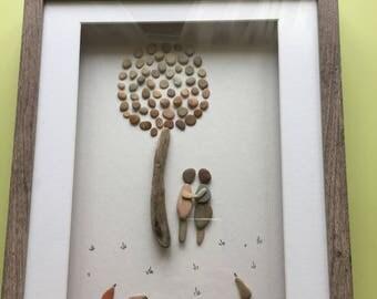 Couple Pebble art