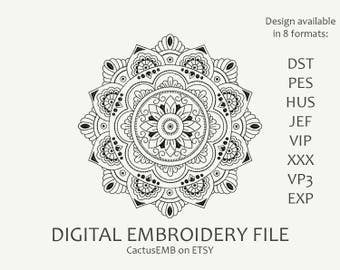 INSTANT DOWNLOAD - Mandala. Indian mehndi pattern. Embroidery design