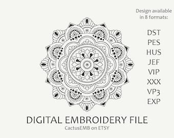 Mandala. Indian mehndi pattern. Embroidery design