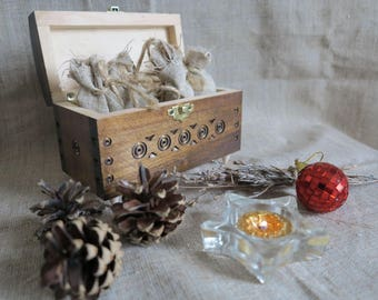 Wooden Carved Box, box oil, gift box for women, box with oils,  casket, Handmade Box, Gift for her,  gift box, aroma oils, oil box