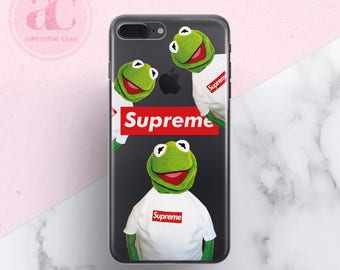 Kermit the Frog, iPhone 7 Case, iPhone X Case, Supreme, iPhone 7 Plus case, iPhone 6s Case, iPhone 8 case, Clear Case, Samsung S8 Case, 37