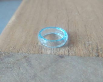 Blue faceted fairy ring