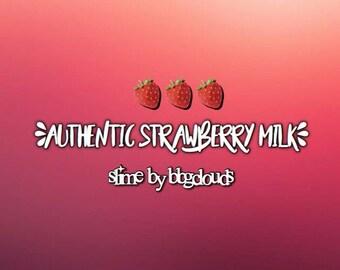 Authentic Strawberry Milk Slime