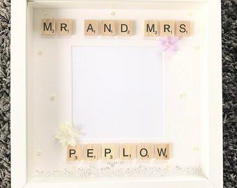 Personalised wedding gift/frame