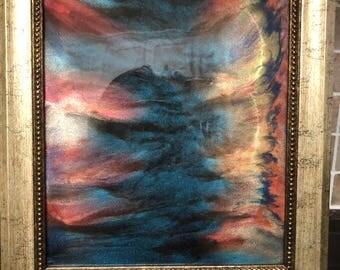 8x10 Framec Resin Painting