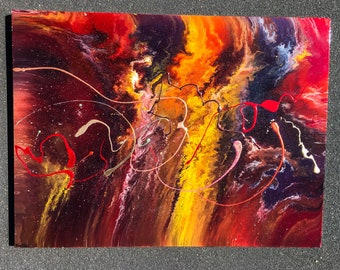 OCTOPUS PASSION • Original Abstract Painting • Fluid Art