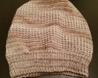 Slouchy waffle knit cap