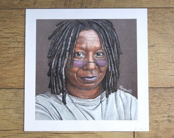 WHOOPI GOLDBERG print from original artwork by Tracey Bryant
