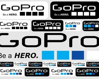 GoPro stickers (best quality) 18 pcs