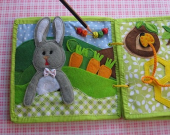 Quiet game, Rabbit and vegetables , Felt  vegetables ,  Gift for Kid, game for ages 1-3