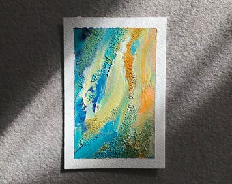 Abstract Sea Foam ≈ Acrylic on Paper ≈ A6