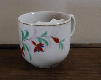 Floral Mustache Cup