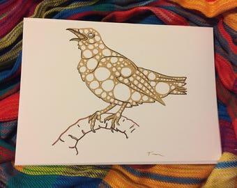 Singing Nightingale Cards, 5 pack