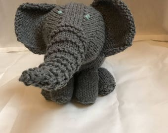 Adorable Elephant - Hand Knit