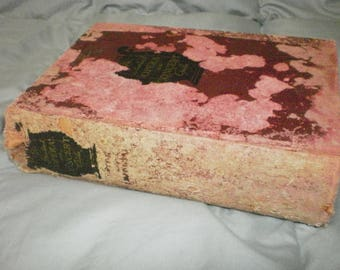 Worn,rustic  The Opera and Concert Guide, from 1930-vintage rustic red book-tattered and treasured old book