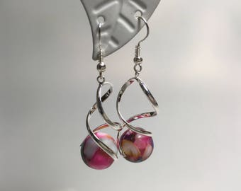 Earrings with Colorful beads