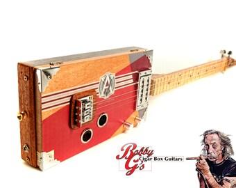 3 string electric cigar box guitar