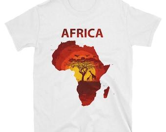 African continent - short sleeve unisex t-shirt