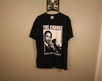 "Obama ""The Change"" tour style shirt"