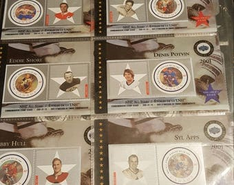 2001 NHL Stamp Cards Set Of 6 New Sealed