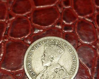 1920  Canada 10 Cent Dime Silver Coin