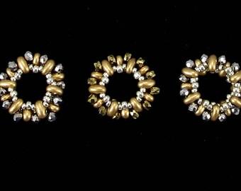 Beaded Beads- set of 5