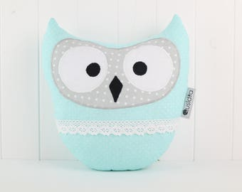 Owl Pillow-Blue and Gray-Home Decor-Cushion Owl