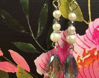 Pearl Teardrop Bead Earrings