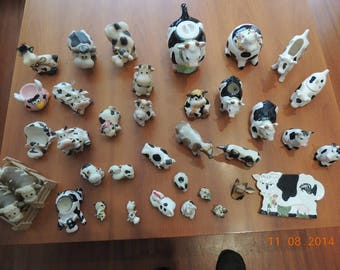 Ceramic figures. Cows
