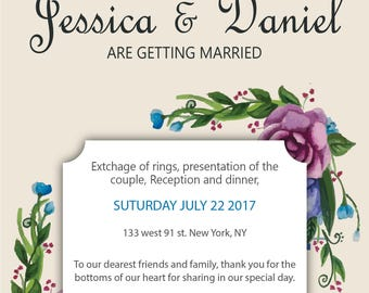 wedding invitation, wedding template