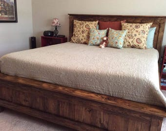 Standard Farmhouse Bed King Queen Full Twin Shipping Available