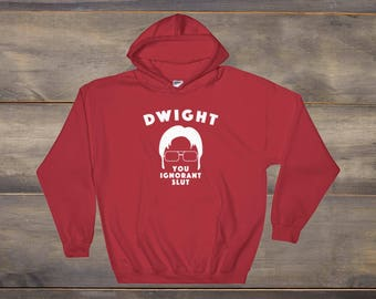 The Office Sweatshirt, Schrute Farms, Dwight You Ignorant Slut, Dwight Schrute, The Office TV Show, The Office TV Show Shirt, Dunder Mifflin
