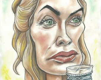 Cersei Lannister. A piece of work. A3 print. 600 pixels per inch resolution. Signed by the artist