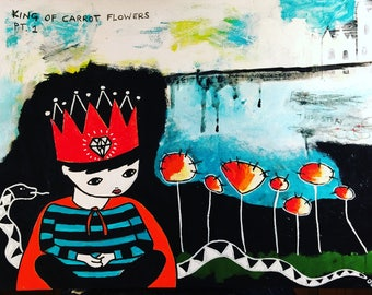 King of Carrot Flowers - Limited Edition Giclee Print